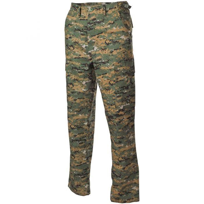 MFH BDU Combat Trousers Ripstop Digital Woodland