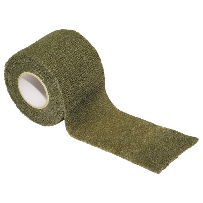 MFH Fabric Self Adhesive Camo Tape 5cm x 4.5m OD Green
