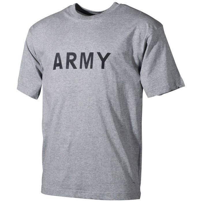 MFH T-shirt Grey with Army Print