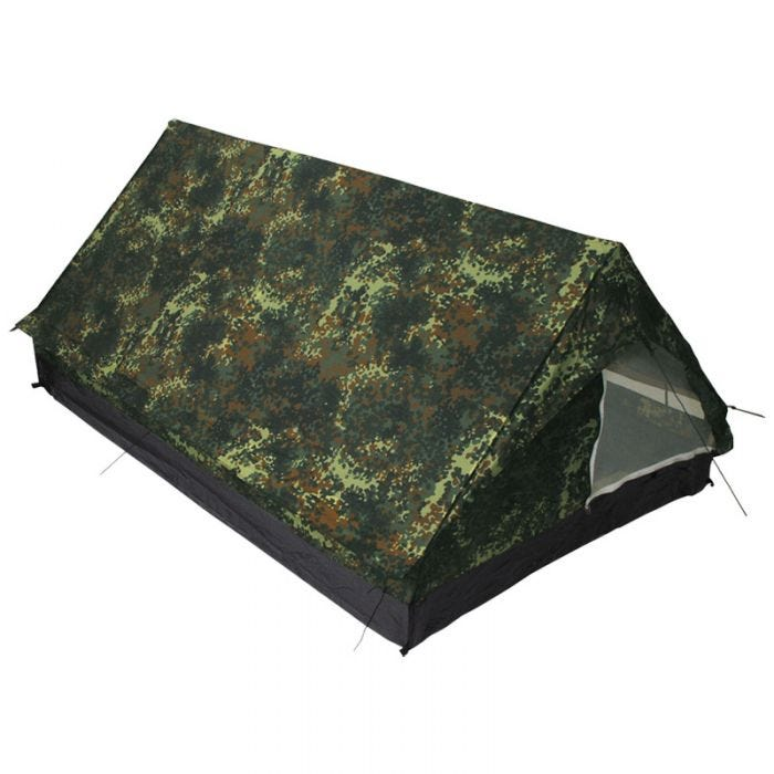 MFH 2 Person Tent Minipack with Mosquito Net Flecktarn