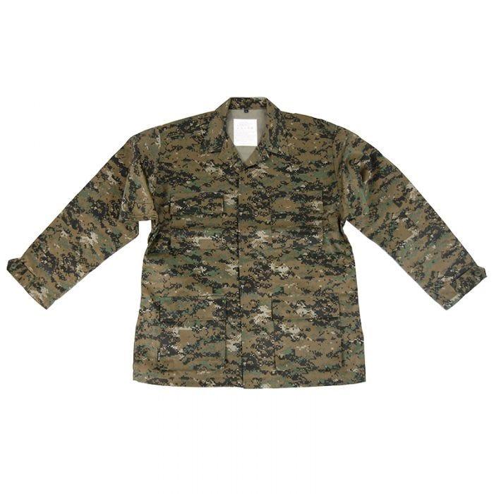 Mil-Tec BDU Combat Shirt Digital Woodland