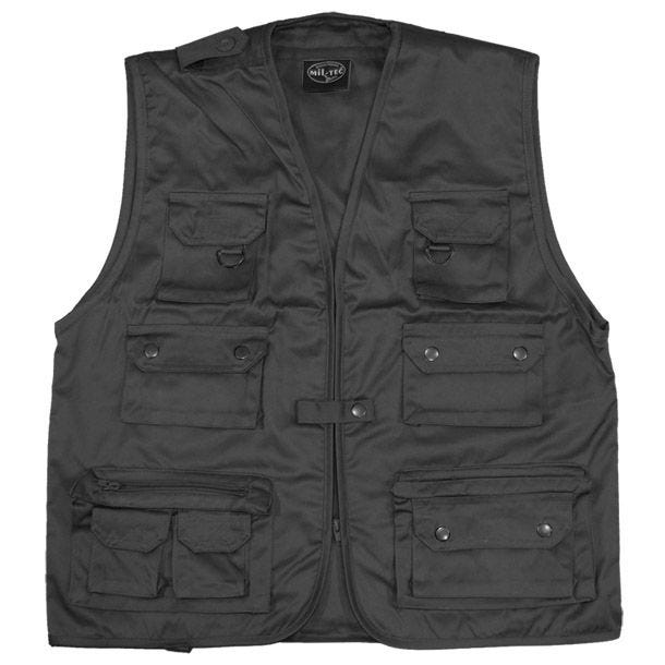 Mil-Tec Fishing Vest Black