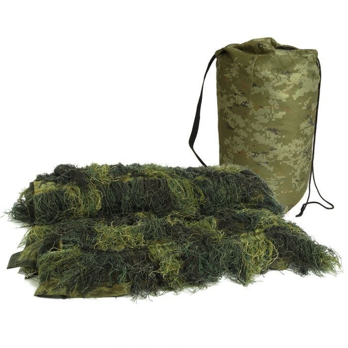 Mil-Tec Ghillie Cover 'Anti Fire' 140x100cm Woodland