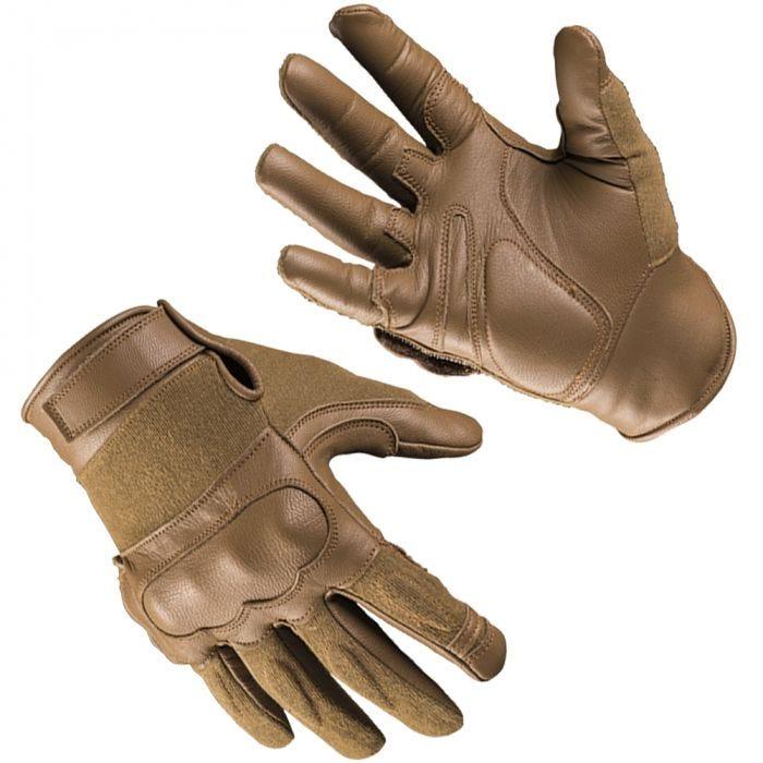 Mil-Tec Tactical Gloves Leather / Kevlar Dark Coyote