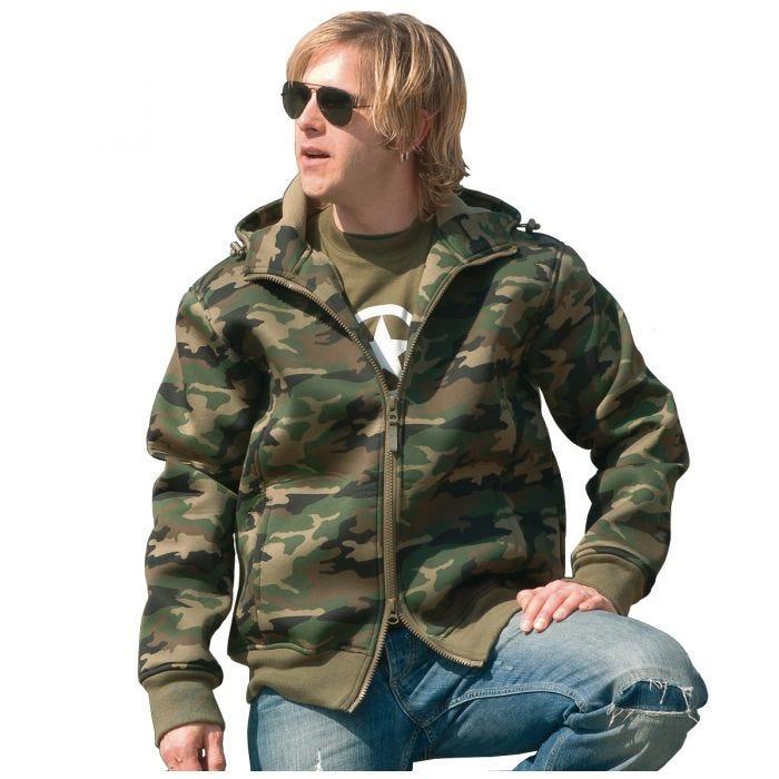 Mil-Tec Neoprene Jacket with Fleece Lining Woodland