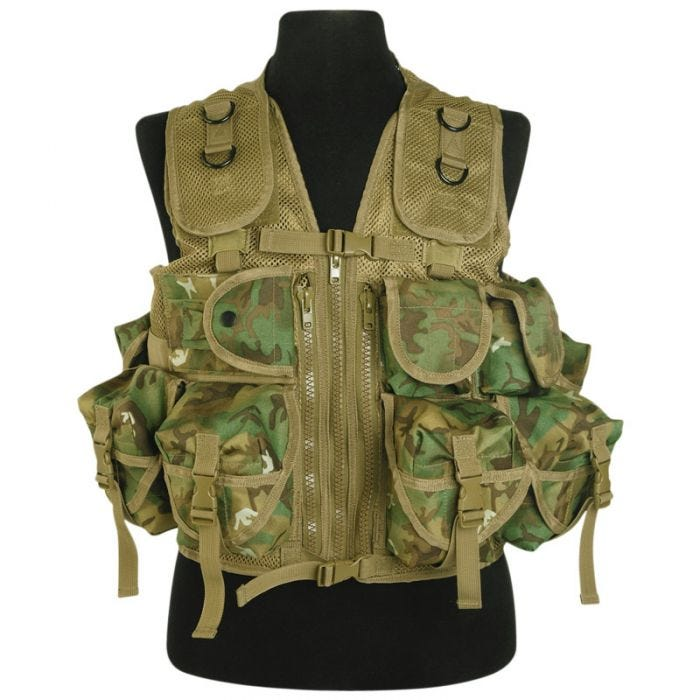 Mil-Tec Ultimate Assault Vest Arid Woodland