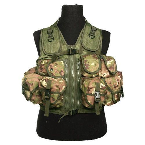 Mil-Tec Ultimate Assault Vest Vegetato Woodland