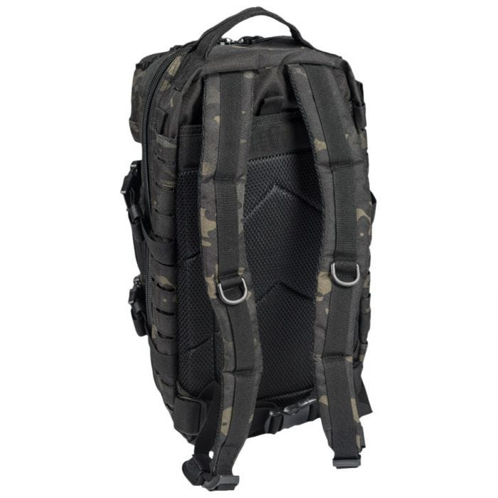 Mil-Tec US Assault Pack Small Laser Cut Multitarn Black