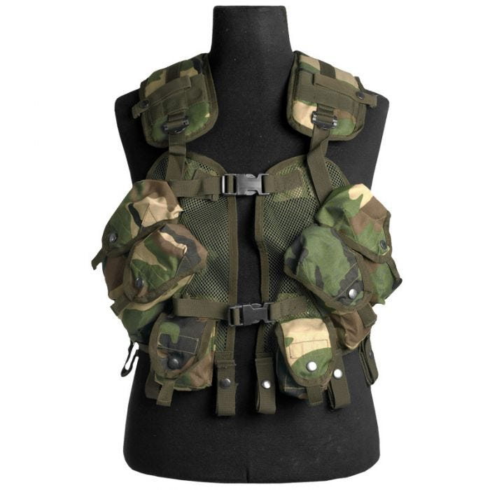 Mil-Tec US Load Bearing Vest Woodland