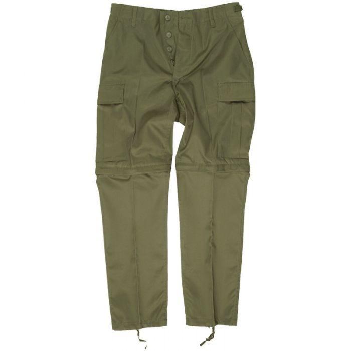 Zip-Off Combat Trousers Olive