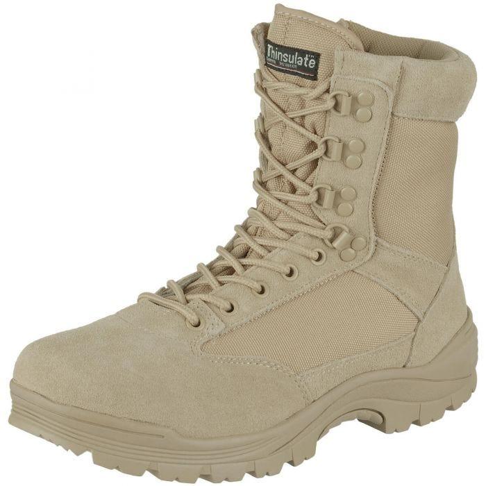 0efedcb7fbf Mil-Tec Tactical Side Zip Boots Khaki