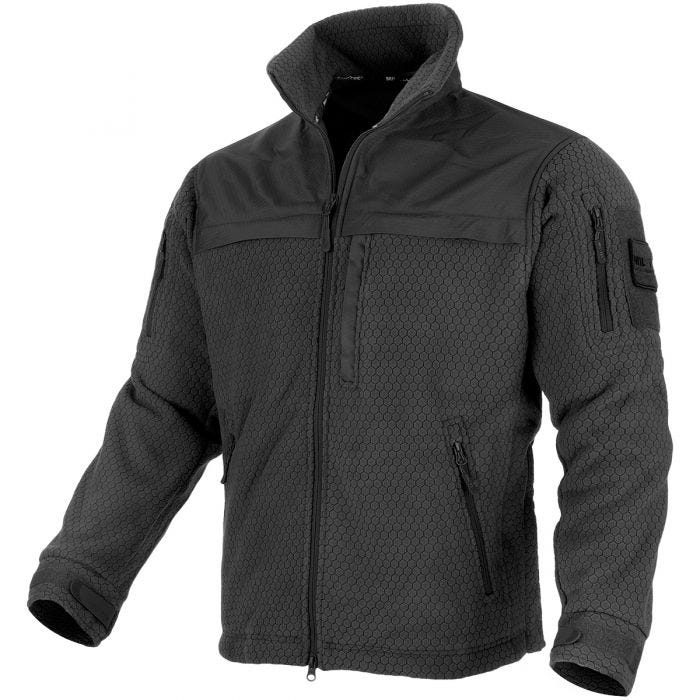 Mil-Tec Elite Fleece Hextac Jacket Black