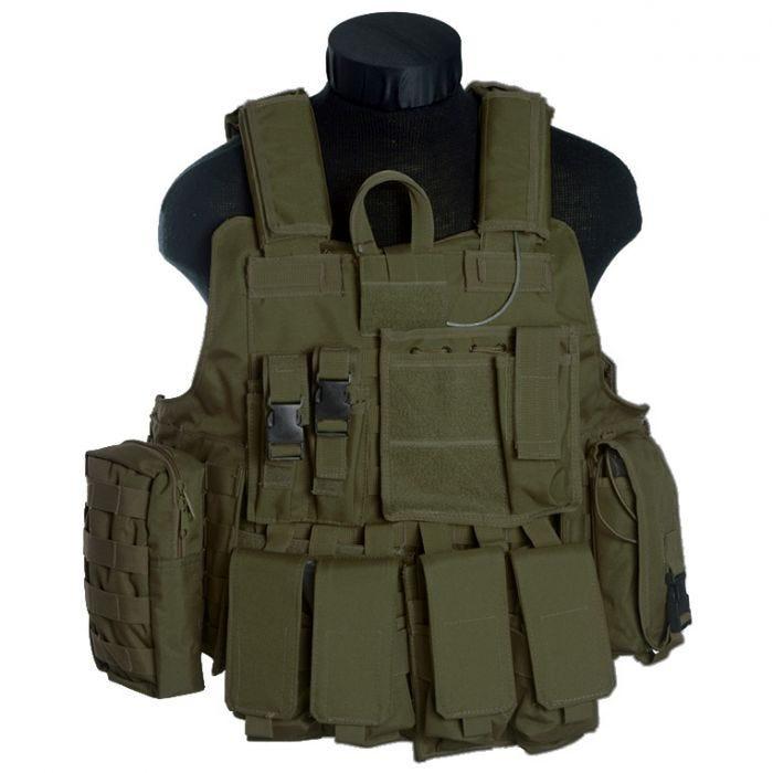 Mil-Tec M.Release MOLLE Combat Vest Olive