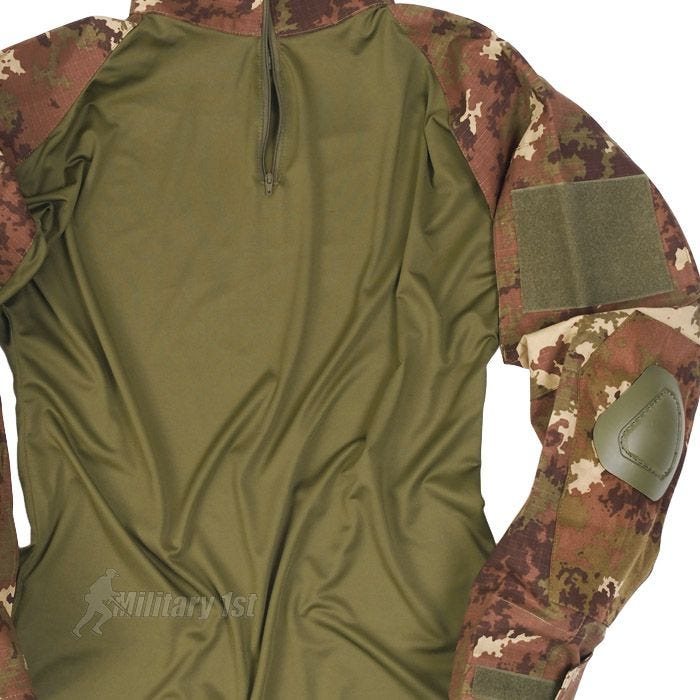 Mil-Tec Warrior Shirt with Elbow Pads Vegetato Woodland