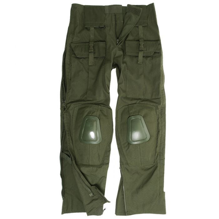 Mil-Tec Warrior Trousers with Knee Pads Olive