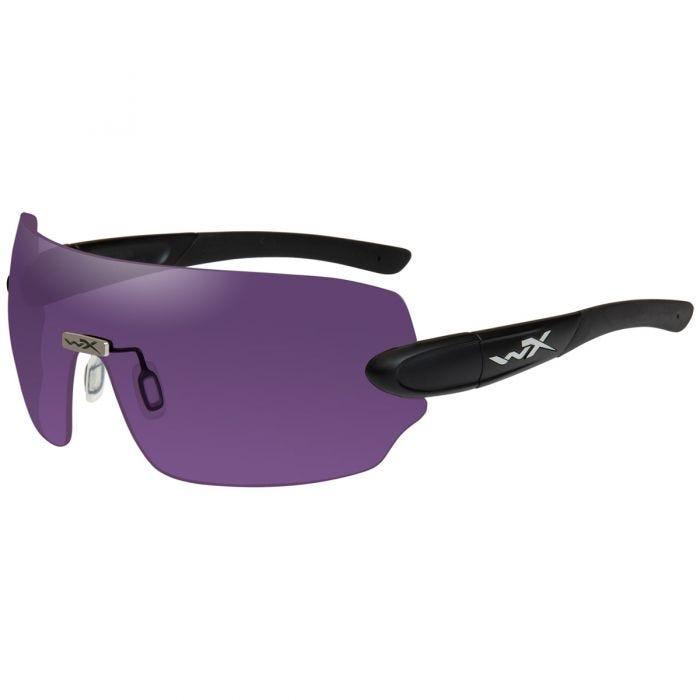 Wiley X WX Detection Glasses - Clear + Yellow + Orange + Purple + Copper Lens / Matte Black Frame