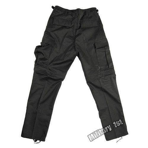Zip-Off Combat Trousers Black