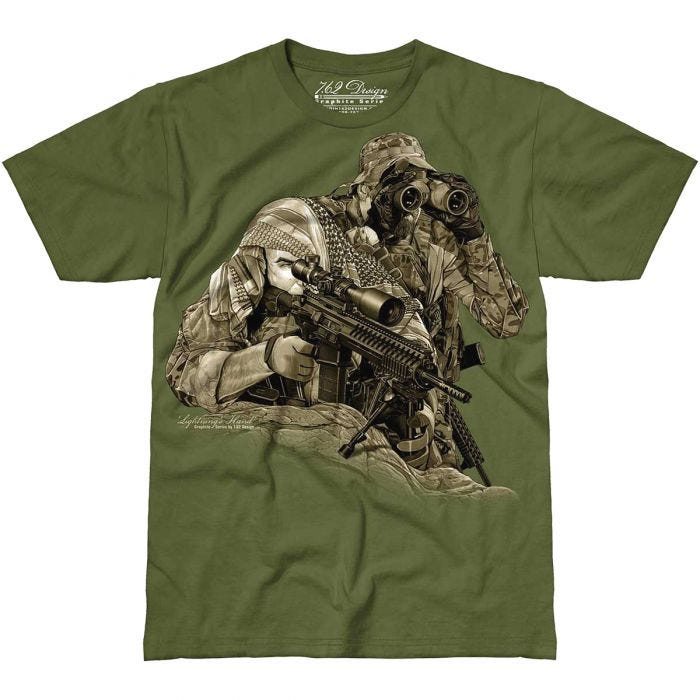 7.62 Design Lightning's Hand T-Shirt Military Green