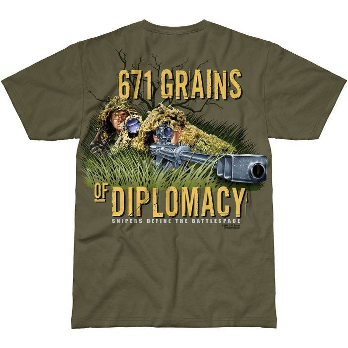 7.62 Design Sniper Team T-Shirt Military Green