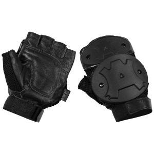MFH Protective Fingerless Gloves Black