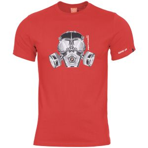 Pentagon Ageron T-Shirt Gas Mask Lava Red