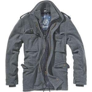 Brandit M-65 Voyager Wool Jacket Anthracite