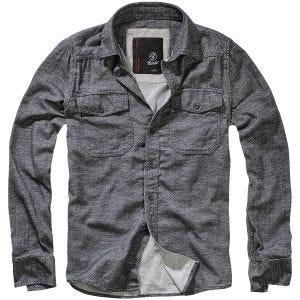 Brandit Tweedoptic Shirt Anthracite / Off-White