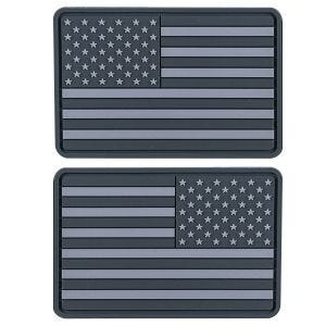 Helikon Small Subdued USA Flag PVC Patch (Pack of 2) Grey