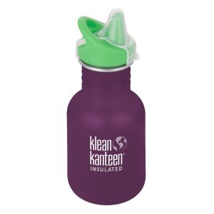Kid Kanteen 355ml Bottle with Sippy Cap Winter Plum