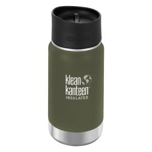 Klean Kanteen Wide Mouth Insulated 355ml Bottle Cafe Cap 2.0 Fresh Pine