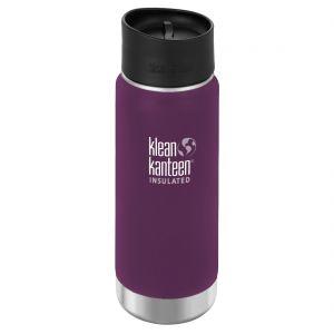 Klean Kanteen Wide Mouth Insulated 473ml Bottle Cafe Cap 2.0 Winter Plum