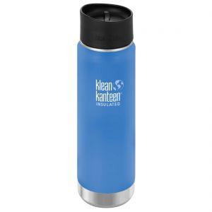 Klean Kanteen Wide Mouth Insulated 592ml Bottle Cafe Cap 2.0 Pacific Sky