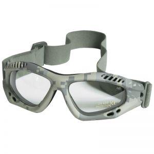 Mil-Tec Commando Goggles Air Pro Clear Lens ACU Digital Frame