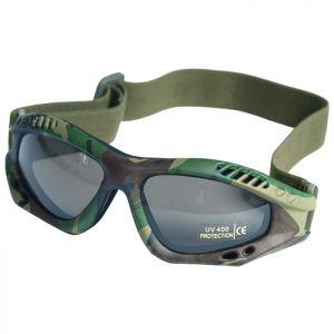 Mil-Tec Commando Goggles Air Pro Smoke Lens Woodland Frame