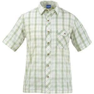 Propper Covert Button-Up Short Sleeve Shirt Sage Plaid