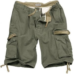 Surplus Vintage Shorts Washed Olive