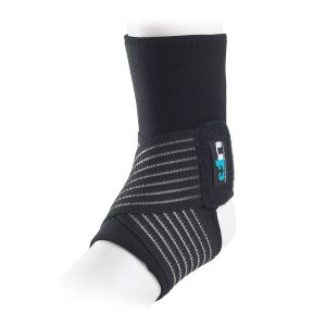 Ultimate Performance Neoprene Ankle Support with Straps Black