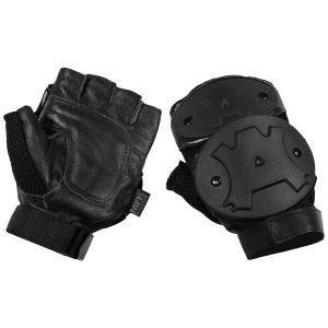 MFH Protective Fingerless Gloves Black