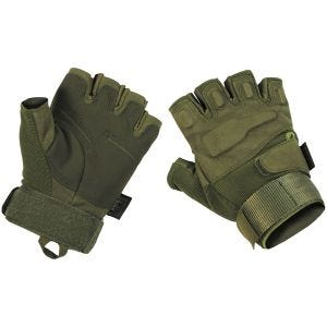 MFH Protect Tactical Fingerless Gloves OD Green