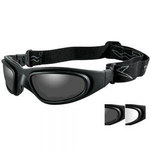 Wiley X SG-1 Goggles - Smoke Grey + Clear Lens / Matte Black Frame