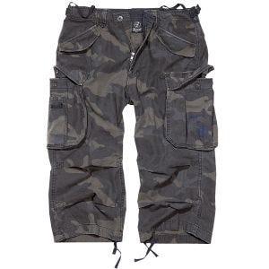 Brandit Industry Vintage 3/4 Shorts Dark Camo