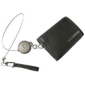 Civilian Rewind Duo Retractable Cable Security Wallet Black