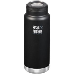 Klean Kanteen TKWide 946ml Insulated Bottle Loop Cap Shale Black