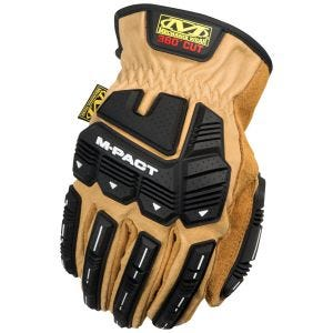 Mechanix Wear CR5 M-Pact Leather Driver Gloves Black/Brown