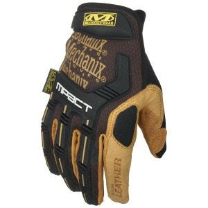 Mechanix Wear M-Pact Leather Gloves Brown