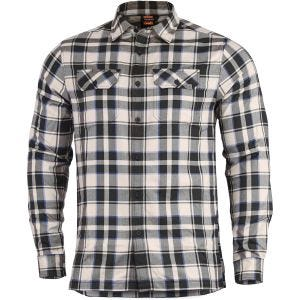 Pentagon Drifter Flannel Shirt Long Sleeve Off White Checks