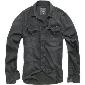 Brandit Hardee Denim Shirt Black