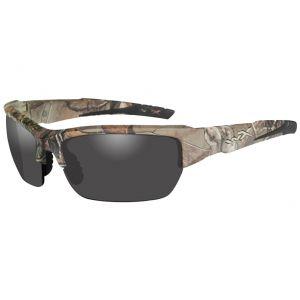Wiley X WX Valor Glasses - Smoke Grey Lens / Realtree Xtra Camo Frame