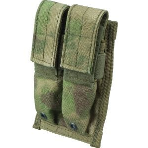 Flyye Double 9mm Magazine Pouch MOLLE A-TACS FG