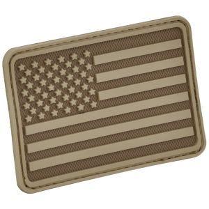 Hazard 4 USA Flag Left Arm Morale Patch Coyote